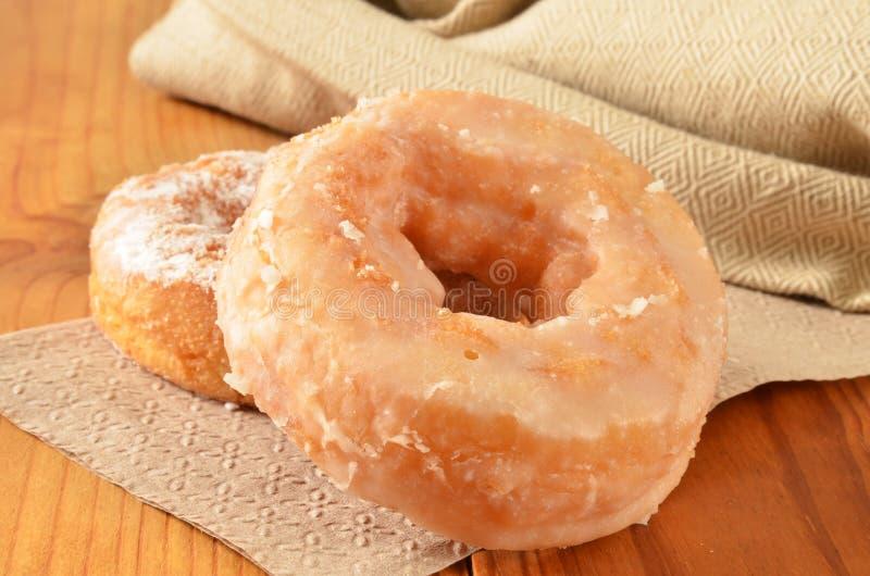 Verglaasd donuts royalty-vrije stock foto