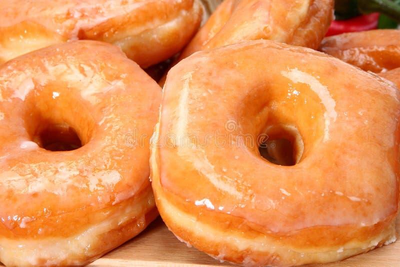Verglaasde Donuts royalty-vrije stock afbeeldingen