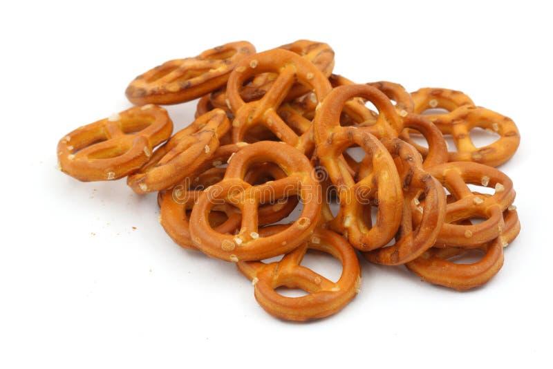Verglaasde en gezouten pretzels stock fotografie