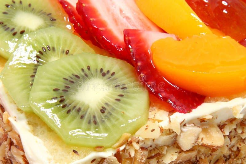 Verglaasde Fruit Bedekte Cake stock foto's