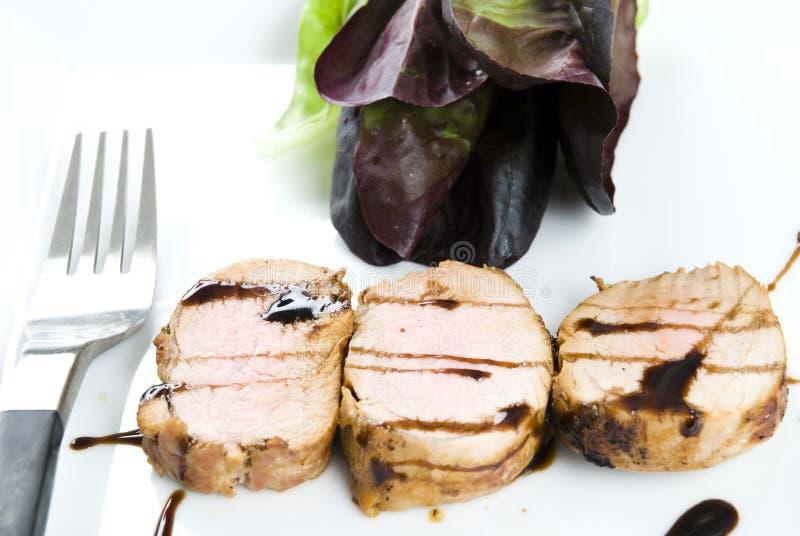 Verglaasde varkensvleesfilet royalty-vrije stock afbeelding