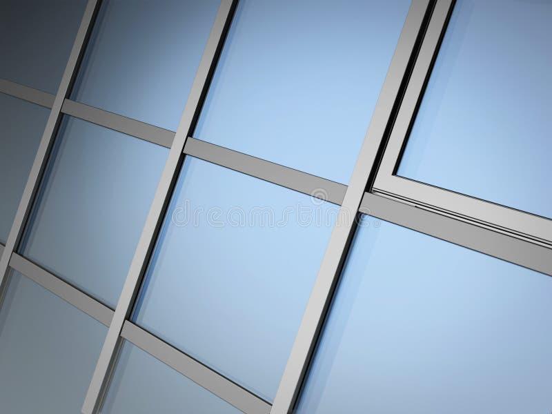 Verglasungssystem der Fassade stock abbildung