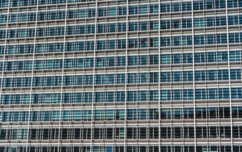 Verglazing van het Berlaymontgebouw, de zetel van Europese Com stock foto's