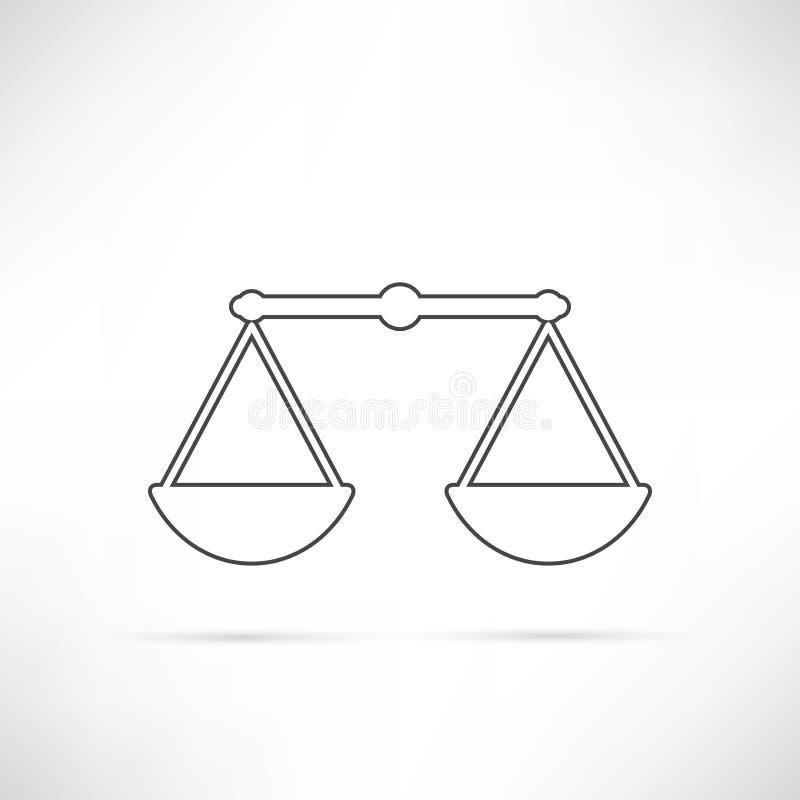 Vergleichen Sie einfach Ikonen-Entwurf lizenzfreie abbildung