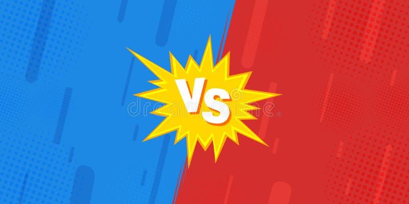 Verglichen mit GEGEN Blättern, wird der Kampf gegen Hintergründe im komischen Entwurf des Flachbildschirms vom Halbton, Blitz gem lizenzfreie abbildung