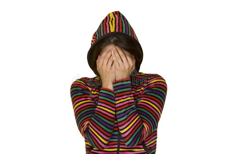 Vergonha adolescente fotografia de stock