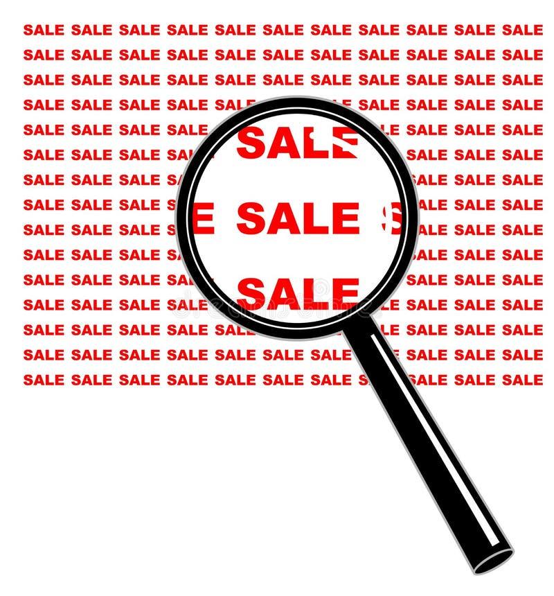 Vergrößern Sie auf Verkauf stock abbildung