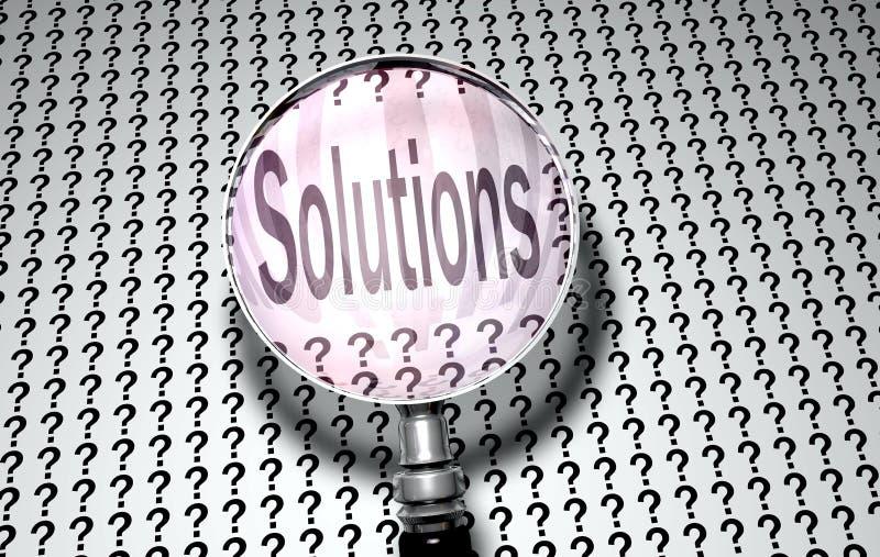 Vergrößern Sie Objektiv-Lösungen lizenzfreie abbildung