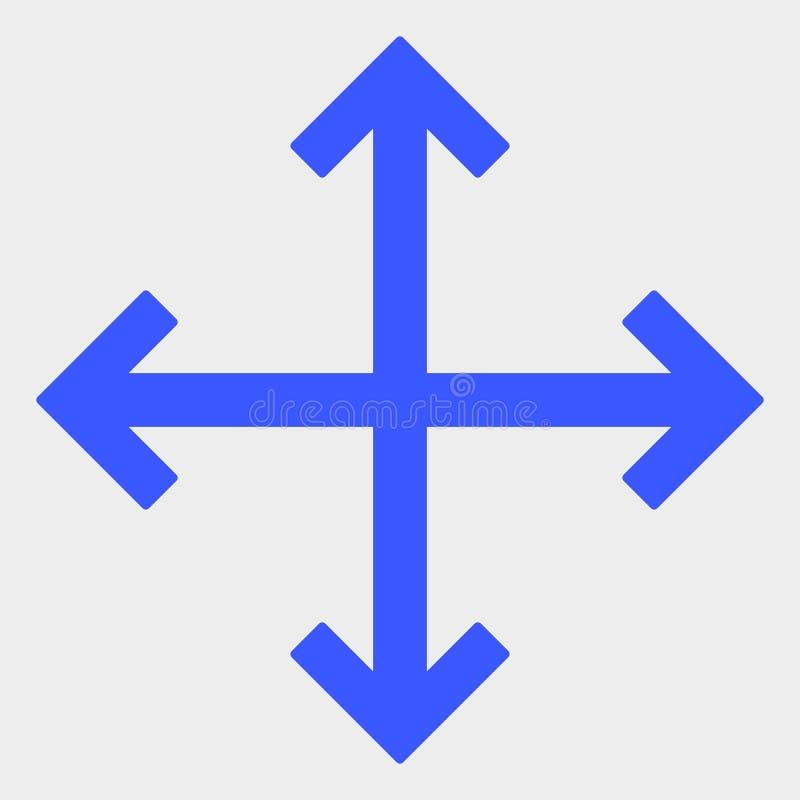 Vergrößern Sie Pfeil-Vektor-Ikonen-Illustration stock abbildung