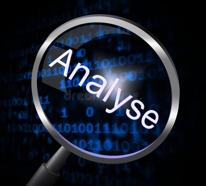Vergrößerungsglas analysieren darstellt Daten-Analytik und analysiert stock abbildung