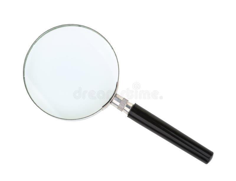 Vergrößerungsglas getrennt auf weißem Hintergrund lizenzfreie stockfotografie