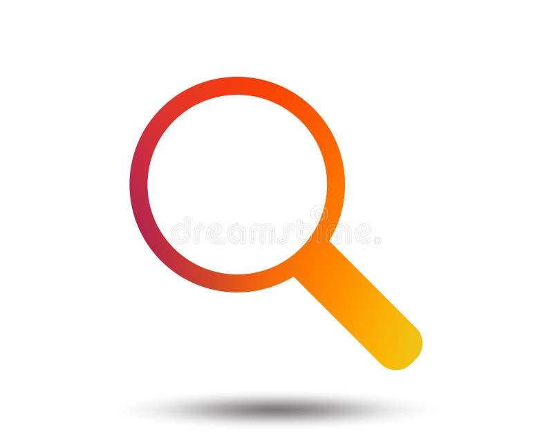 Vergrößerungsglasglaszeichenikone Zoomwerkzeug nearsighted stock abbildung