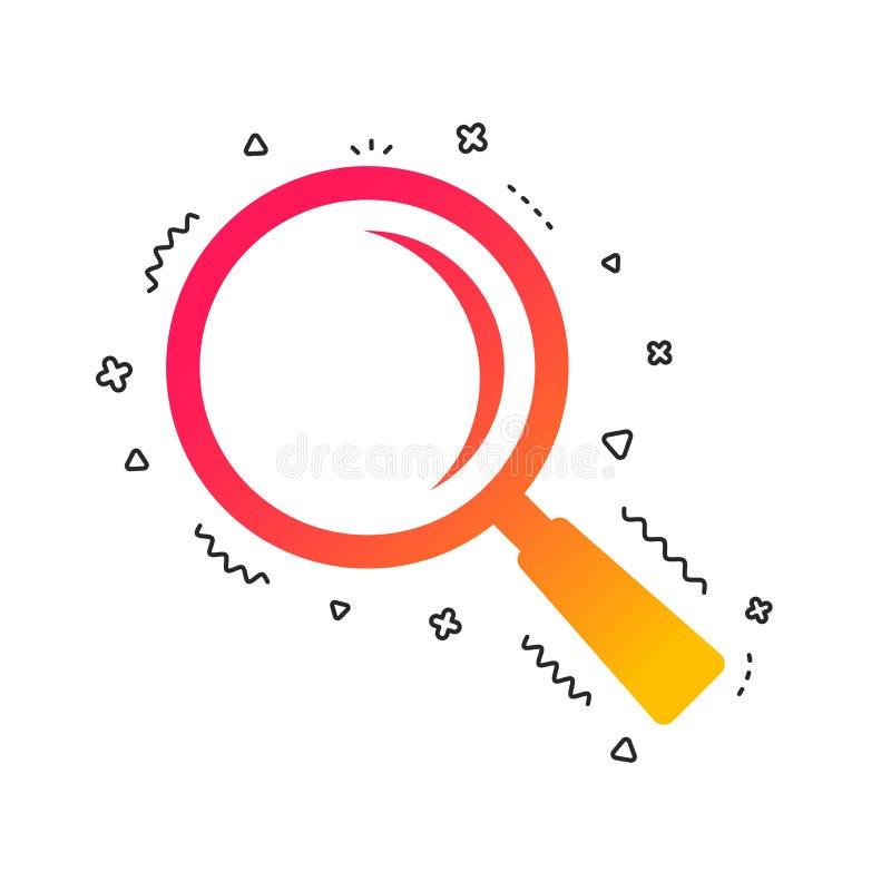 Vergrößerungsglasglaszeichenikone Zoomwerkzeug nearsighted Vektor stock abbildung