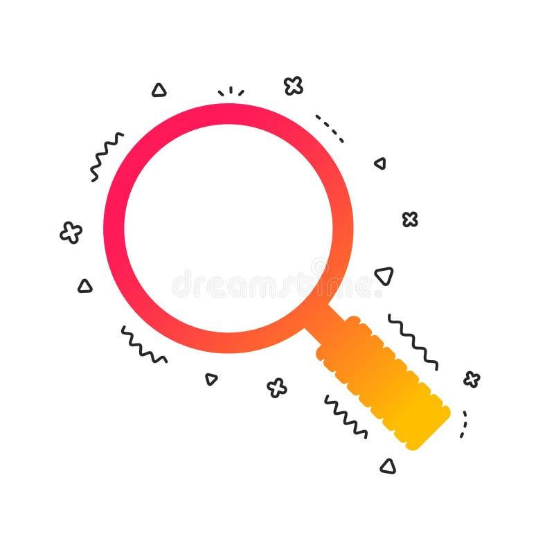 Vergrößerungsglasglaszeichenikone Zoomwerkzeug nearsighted Vektor lizenzfreie abbildung
