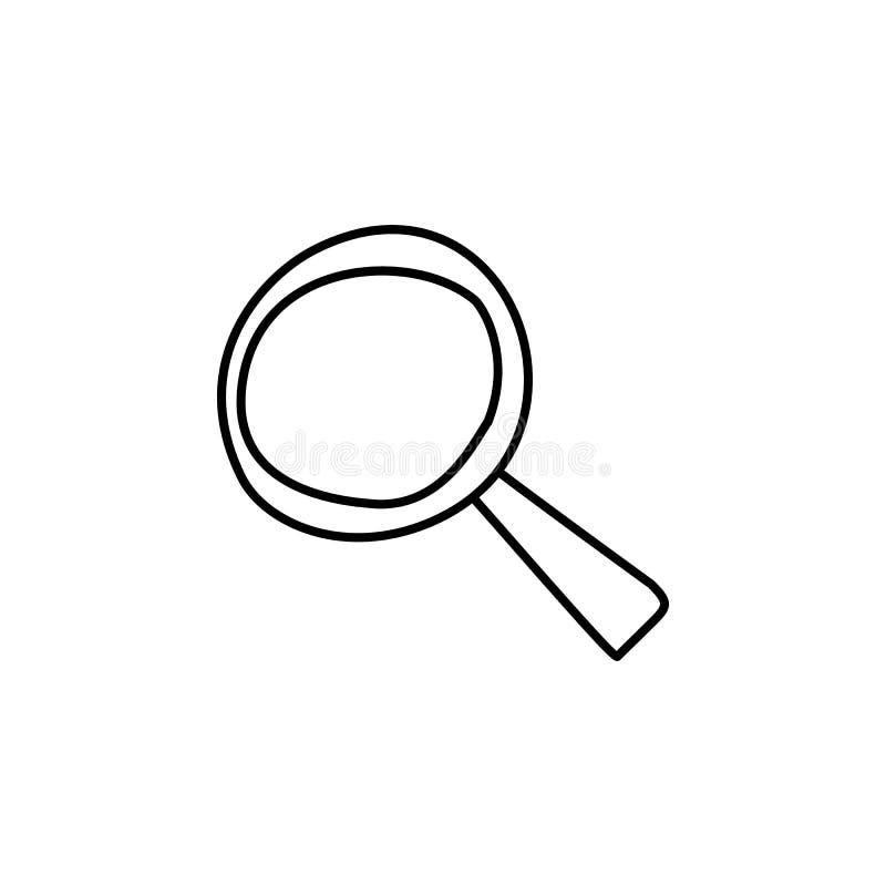 Vergrößerungsglasskizzenikone Element der Bildungsikone für bewegliche Konzept und Netz apps Entwurfsvergrößerungsglas-Skizzeniko vektor abbildung