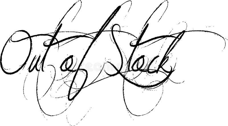 Vergriffene Textzeichenillustration auf weißem Hintergrund vektor abbildung