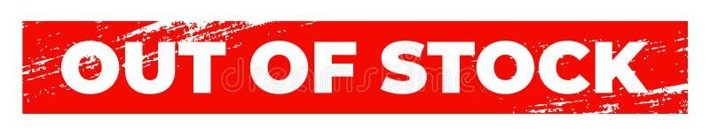 Vergriffener roter rechteckiger Umbau Schmutz maserte stockout Kennzeichen lizenzfreie abbildung