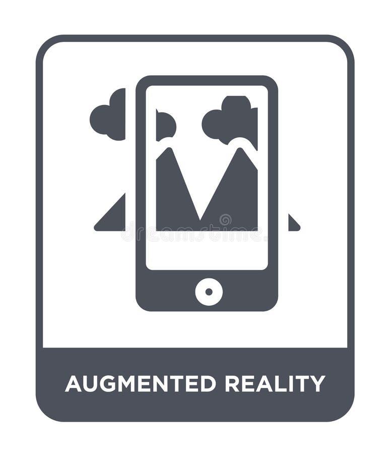 vergroot werkelijkheidspictogram in in ontwerpstijl vergroot die werkelijkheidspictogram op witte achtergrond wordt geïsoleerd ve stock illustratie