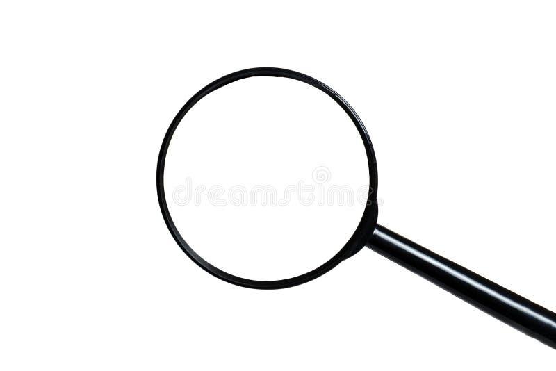 Vergrootglas dat op witte achtergrond wordt ge?soleerd stock foto's