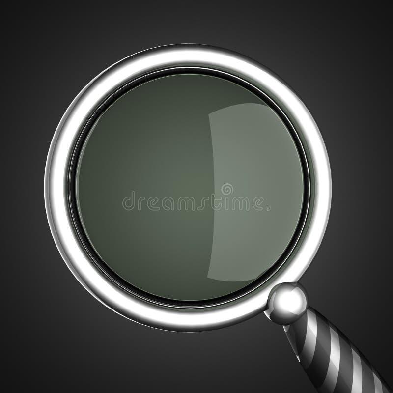 Download Vergrootglas Op Grijze Achtergrond Stock Illustratie - Illustratie bestaande uit zaken, illustratie: 39108327
