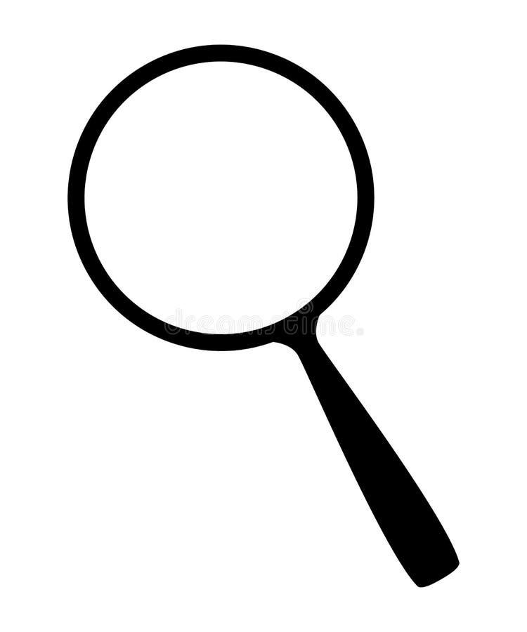 Vergrootglaspictogram vector illustratie