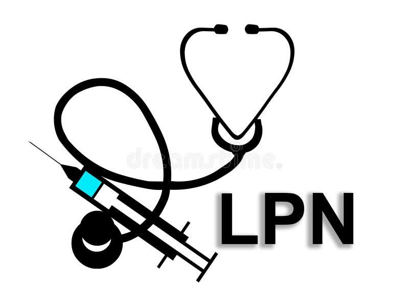Vergunning gegeven Praktische Verpleegster LPN royalty-vrije illustratie