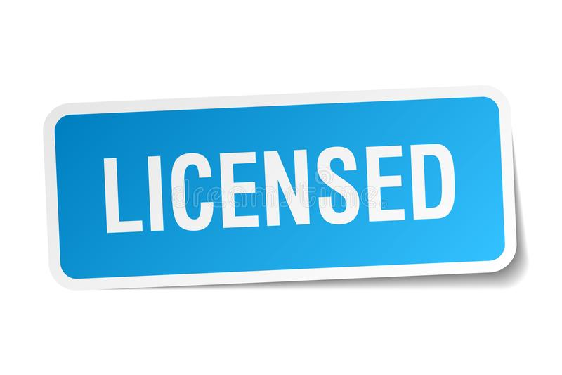 vergunning gegeven sticker vector illustratie