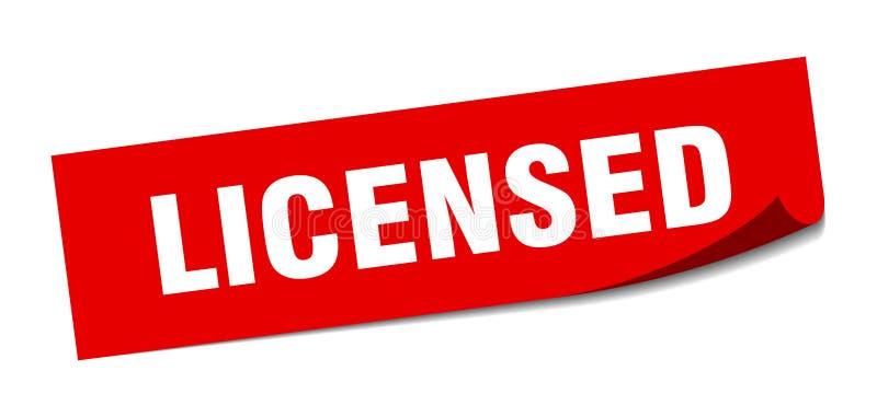 vergunning gegeven sticker stock illustratie