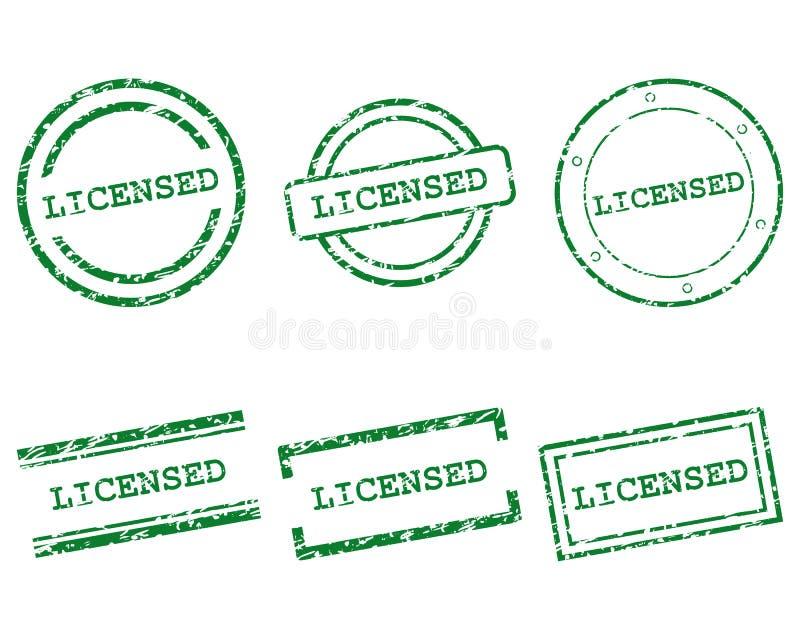 Vergunning gegeven zegels stock illustratie