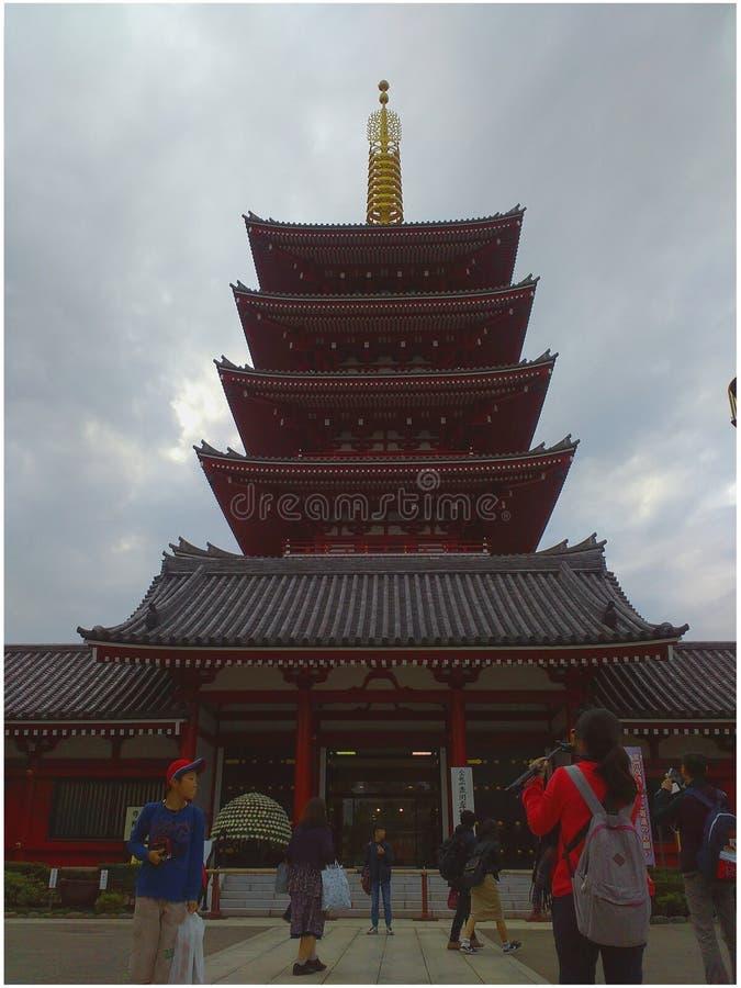 5-verhaal pagode stock afbeeldingen
