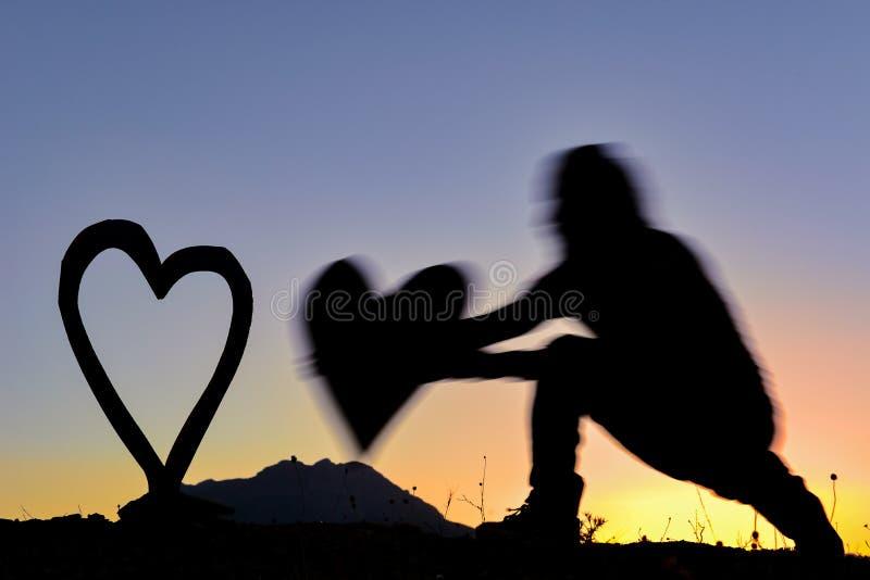 verhaal van buitengewone liefde; creatief recept voor liefde en emotie royalty-vrije stock afbeeldingen