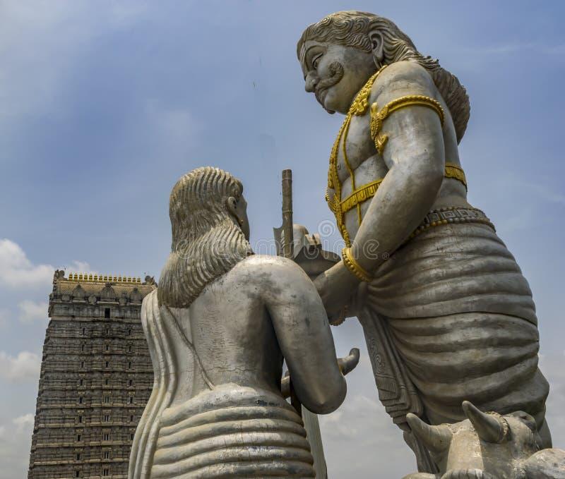 Verhaal van de Murudeshwar-Tempel royalty-vrije stock afbeelding