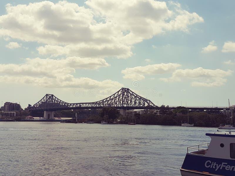 Verhaalbrug in Brisbane royalty-vrije stock afbeeldingen