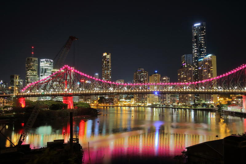 Verhaalbrug in Brisbane royalty-vrije stock foto's