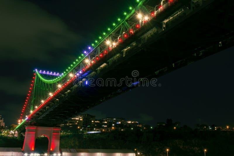 Verhaalbrug in Brisbane, Queensland royalty-vrije stock fotografie