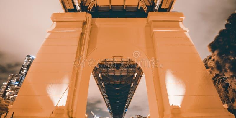 Verhaalbrug in Brisbane, Queensland stock foto's