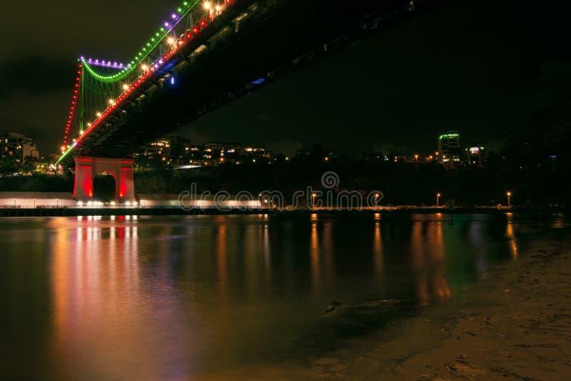 Verhaalbrug in Brisbane, Queensland royalty-vrije stock afbeeldingen