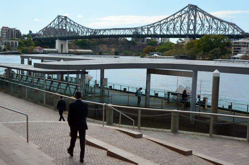 Verhaalbrug - Brisbane Queensland Australië stock afbeeldingen