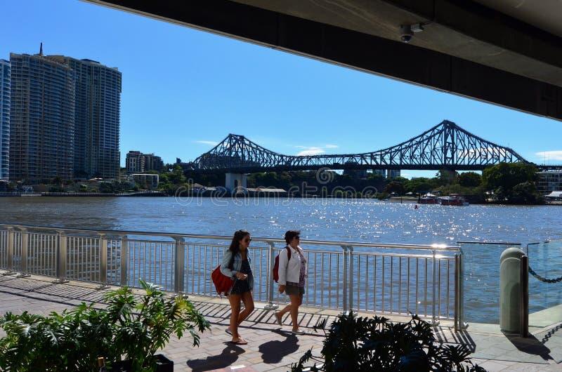 Verhaalbrug - Brisbane Queensland Australië royalty-vrije stock foto