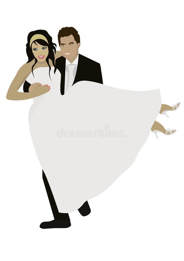 Verheiratetes Paar lizenzfreie abbildung