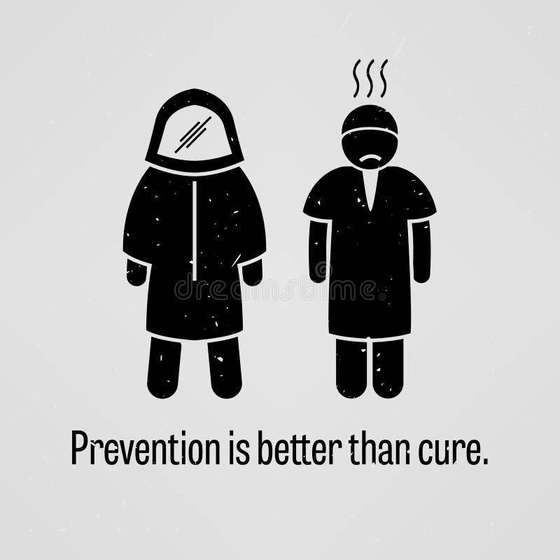 Verhinderung ist besser als Heilung stock abbildung
