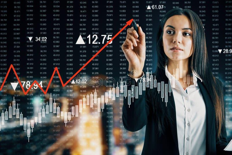 Verhoging en stats concept royalty-vrije stock afbeelding