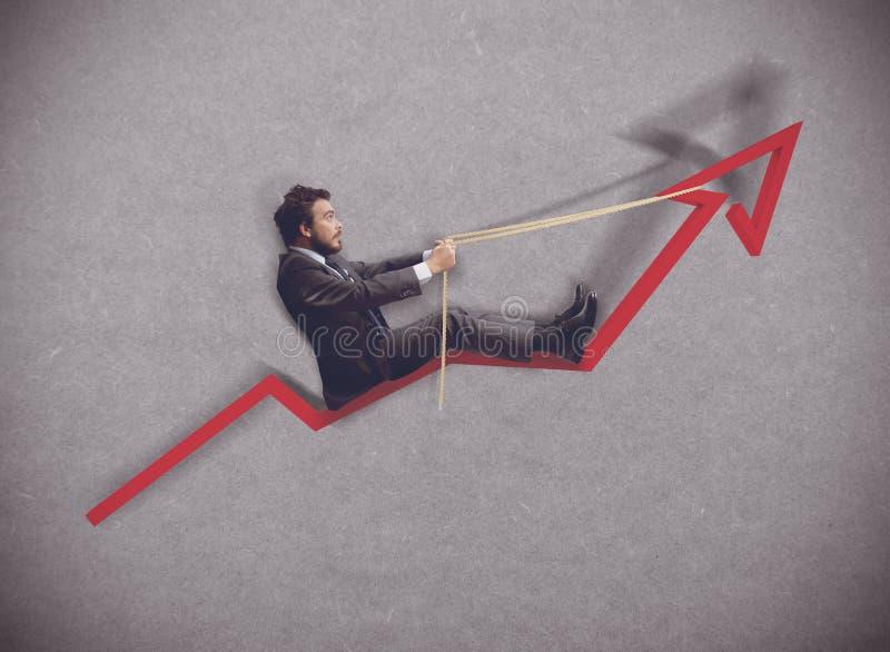 Verhoging van economie stock fotografie