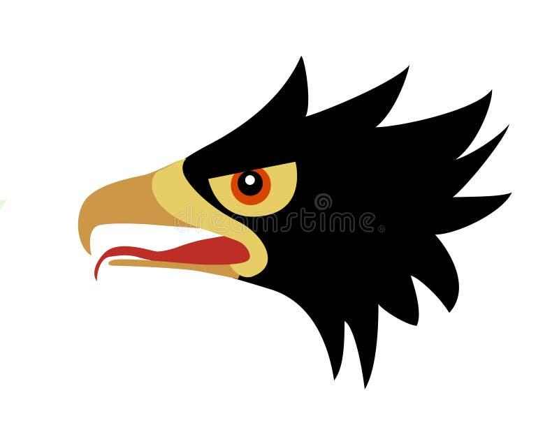 Verhongerd vogel vector illustratie