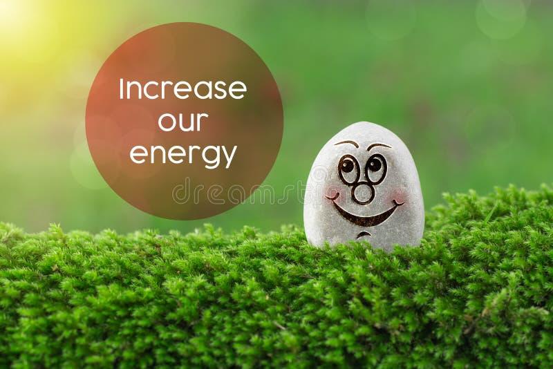 Verhoog onze energie stock fotografie