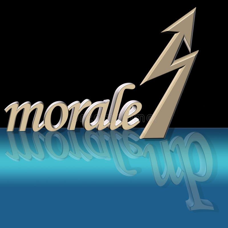 Verhoogd moreel royalty-vrije illustratie