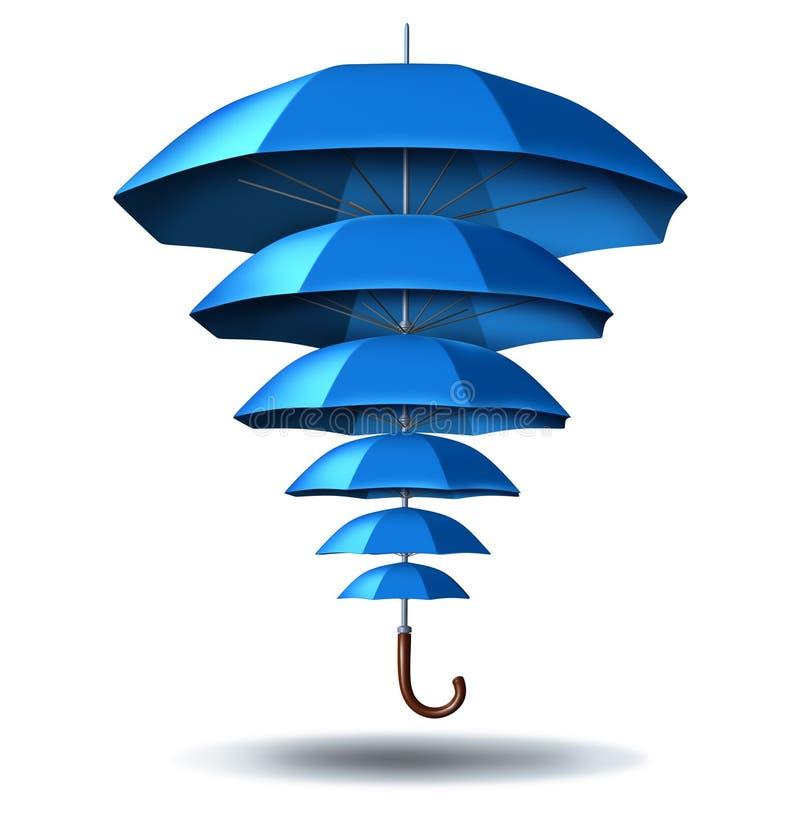 Verhoogde Bedrijfsbescherming vector illustratie