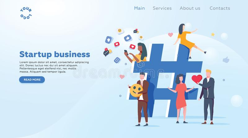 Verhouding, online het dateren en voorzien van een netwerkconcept - mensen die informatie via sociale media platforms delen royalty-vrije illustratie