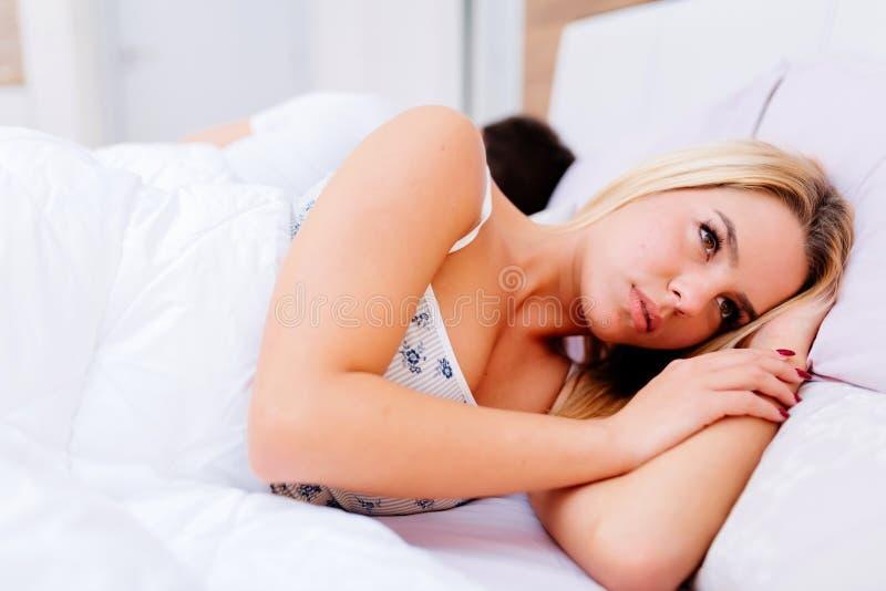 Verhoudingsproblemen die het seksuele leven beïnvloeden stock afbeeldingen