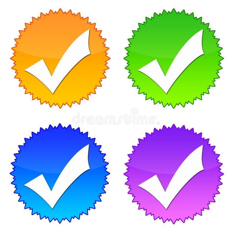 Verific ícones ilustração stock